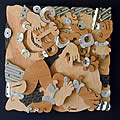 "Wrestlers - Tickle Fight 24"" x 24"""